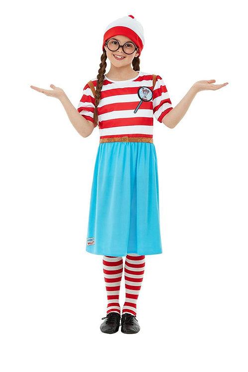 Where's Wally? Wenda Deluxe Girls Costume. 50280 Smiffys