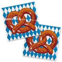 Napkins Pretzel Oktoberfest 25x25cm/ 20 F 61469