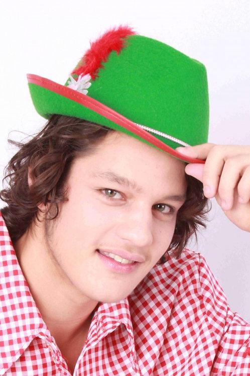 Bavarian hatt med fjær