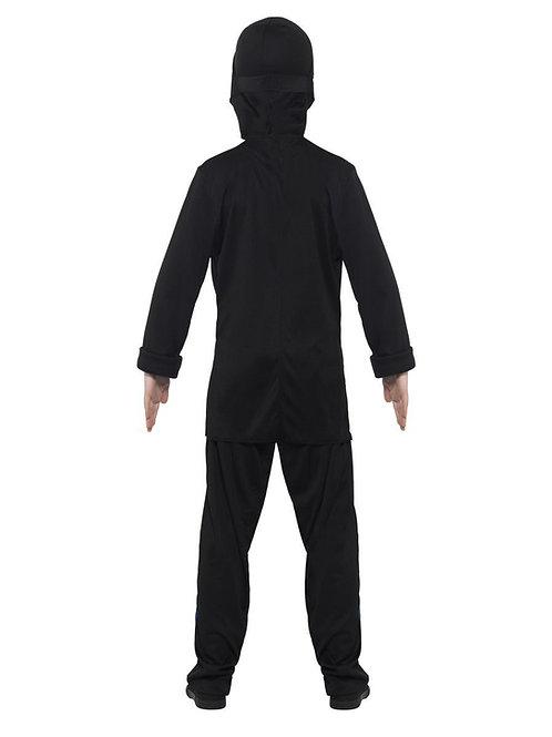 Ninja Assassin Costume, Black & Blue. 21073 Smiffys