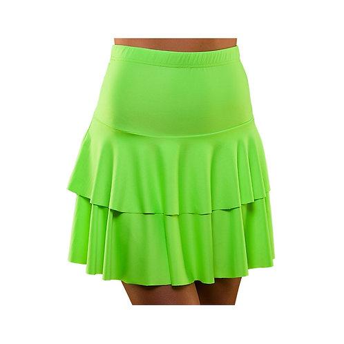 80's Neon Ra Ra Skirt - GREEN EF-2257-G W
