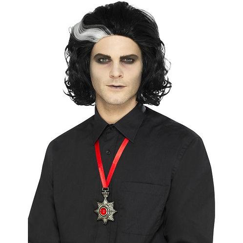 Deluxe Vampire Metal Medallion Necklace SKU: 45070