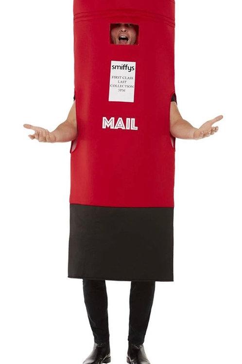 Post Box Costume, Red. 55033 Smiffys