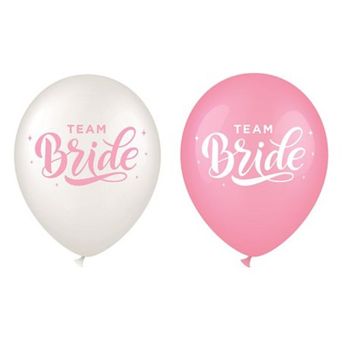 "BALLOONS 12"" TEAM BRIDE 6-P (6) 64404 JOKER"