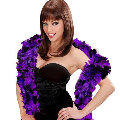 """BICOLOR FEATHER BOA"" purple/black- 1,80 m. 0381N Widmann"