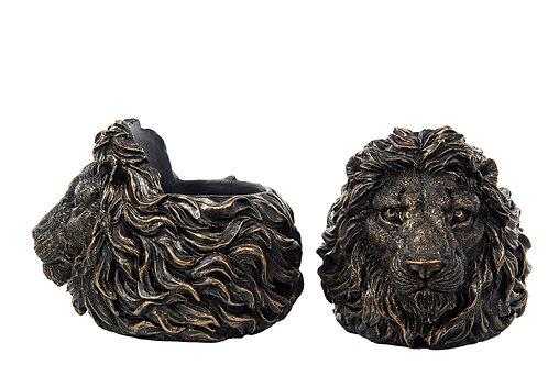 Lysestake Løve G.Brun Poly 18x14cm 100929
