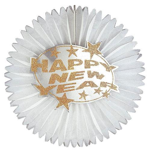 """""""GLITTER HAPPY NEW YEAR PAPER FAN"""" (8031Y)"""