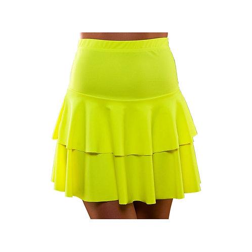 80's Neon Ra Ra Skirt - YELLOW EF-2257-Y W