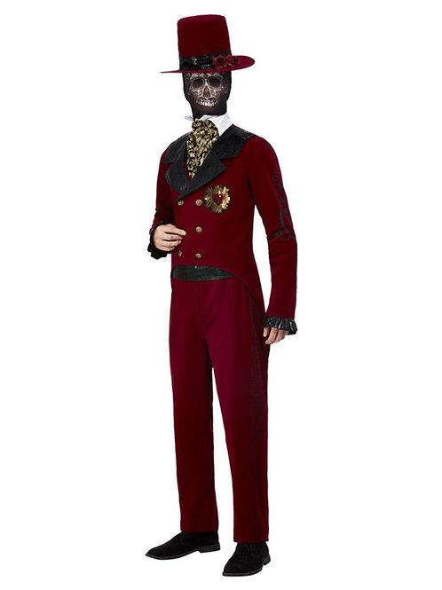 Deluxe DOTD Sacred Heart Groom Costume, Burgundy. 63041 Smiffys