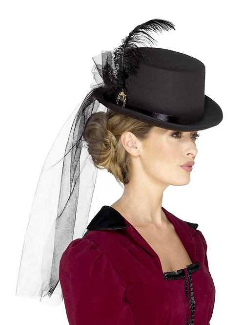 Deluxe Ladies Victorian Top Hat. 48413 Smiffys