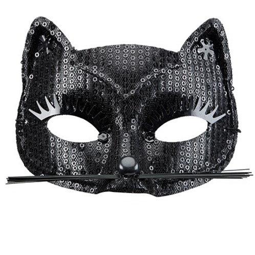 Black Sequin Cat Eyemask. 03633/W