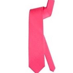 Satin Neon Pink Tie. 7923N