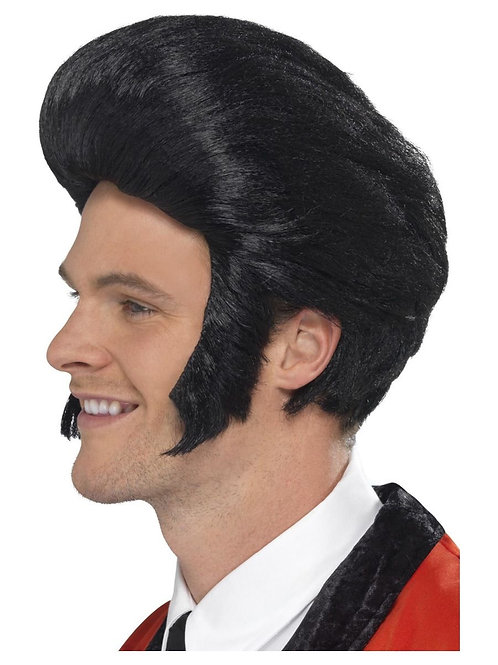 50s Quiff King Wig, Black. 42010 S