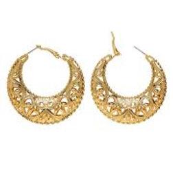 "Pair of ""GOLD GIPSY/ROMAN EARRINGS"" 03577 W"