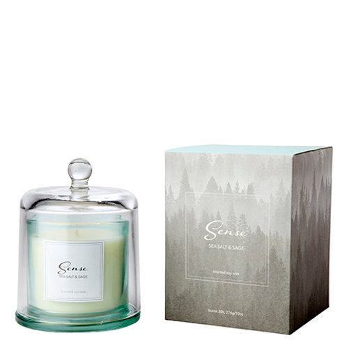 SENSE Scented candle with dome Sea salt & sage