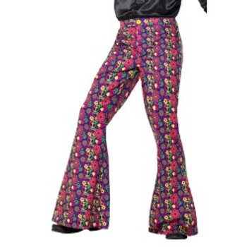 60s Psychedelic CND Flared Trousers, Mens  47193 S
