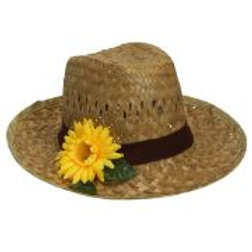 "Straw ""FARMER HAT WITH SUNFLOWER"" W 14232"