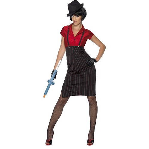 1920S Gangster Costume, Red and Black. 33722 S