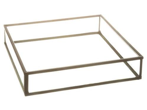 Serviettholder sort/glass 17,5x17,5x3,5 Varenr:110056