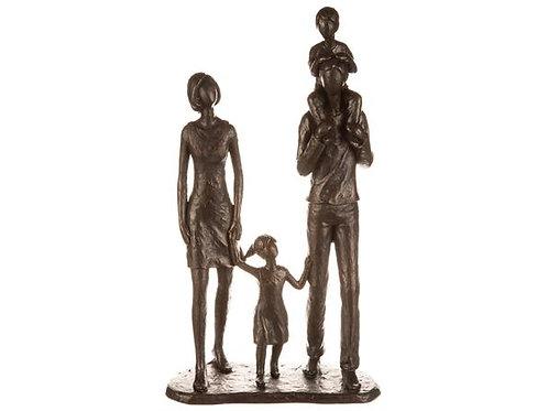 Foreldre m/barn antikkbrun 18x32cm Varenr:112188