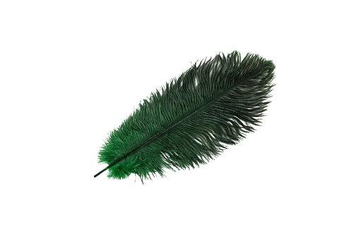 Strutsefjær Mørkegrønn 30-35cm