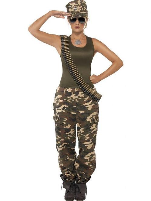 Khaki Camo Deluxe Costume, Female SKU 35457