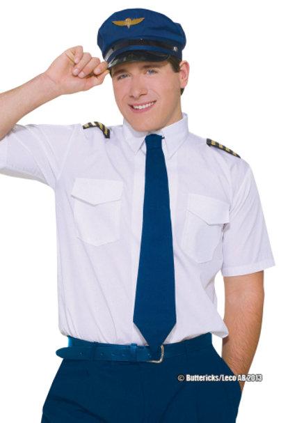 Pilotskjorte og hatt