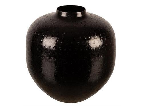 Vase metall sort 19x20cm Varenr:112082