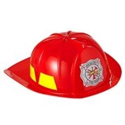 Adult Fireman Hat. Hard plastic. 2869F W