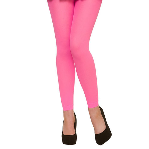 Tights -80's Footless / Neon Pink. TS-7407 Wicked
