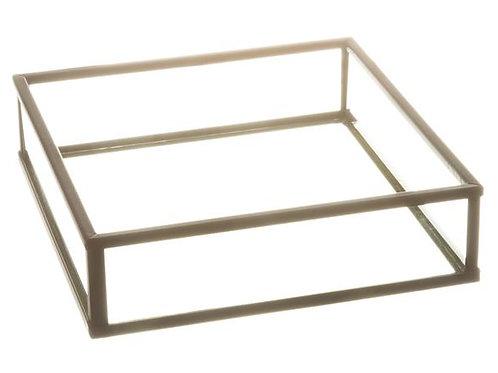 Serviettholder sort/glass 13,5x13,5x3,5 Varenr:110055