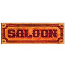 """SALOON SIGN"" 78x26 cm. 5064I W"