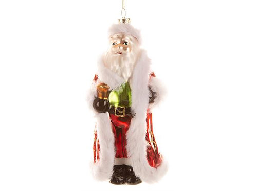 Juletrepynt glass nisse rød 14,5cm