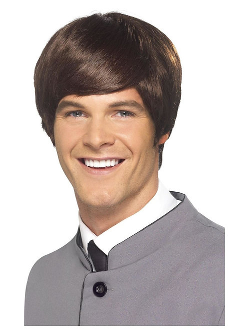 60s Male Mod Wig, Brown. 43234 S