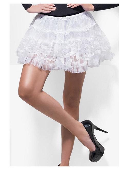 Fever Deluxe Lace Petticoat, White. 30306 S