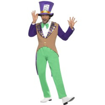 Mad Hatter Costume, Adult SKU: 29025