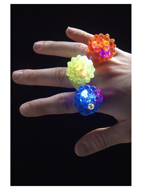 Jelly Ring. Flashing.Assorted Colors. 21065 S