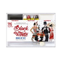 """BLACK & WHITE MAKEUP SET"""" (4 makeup stick...) 02409 W"""