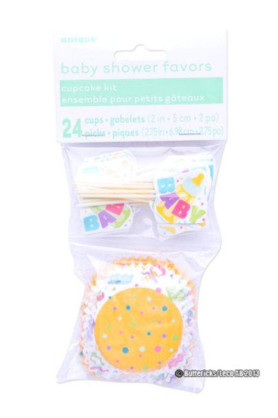Babyshower, Cupcake former med dekor