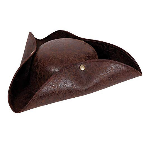 Deluxe Pirate Hat - Distressed Leather AC-9202 W