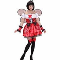 """LADYBUG"""" (dress, cuffs, wings,  05451 W"""