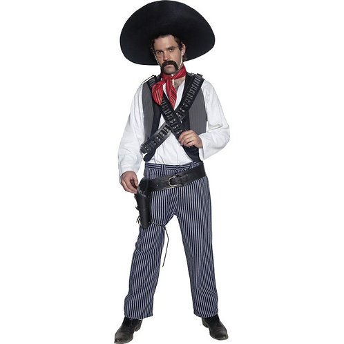 Authentic Western Mexican Bandit Costume SKU: 34292