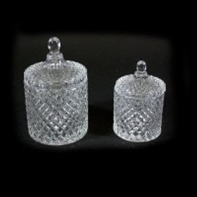 Krukke glass liten 13cm