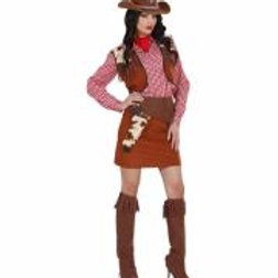 "COWGIRL"" (shirt, vest, skirt, belt with h... 58843 W"