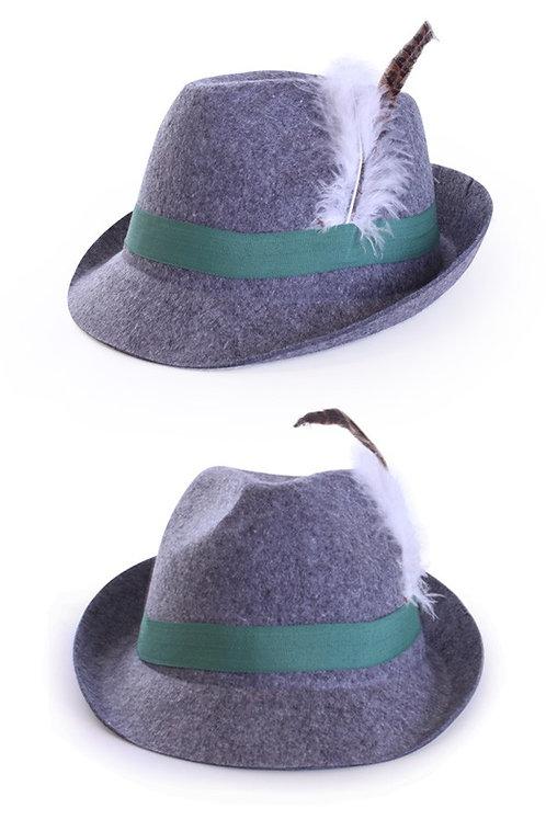 Bavarian hatt, grå