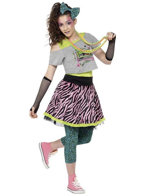 80s Wild Child Costume, Multi-Coloured SKU 44345