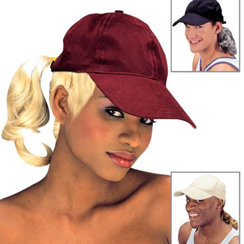 "CAP WITH PONYTAIL"" 3 colors ass. 8469B Widmann"