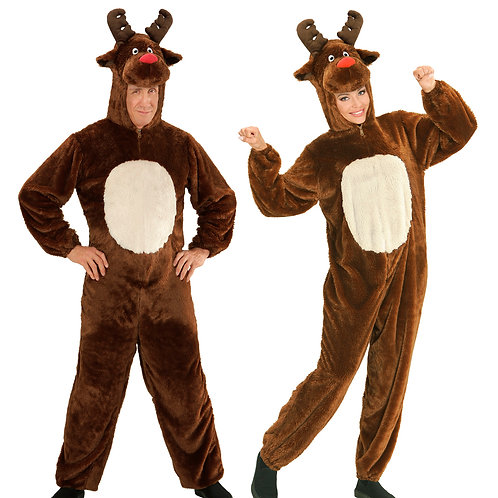 """""""PLUSH REINDEER"""" (hooded jumpsuit with mask) (97165)"""