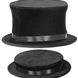 """COLLAPSIBLE TOP HAT"" suede look. 00129 W"