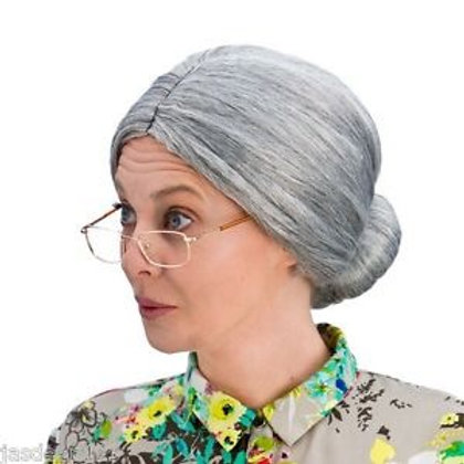 Granny Bun Wig (Grey) EW-8035 W